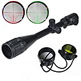 Dakota Sport & Supply 6-24x50 Rifle Scope Red & Green Illuminated Mil-Dot Sniper Rifle/Varmint Scope