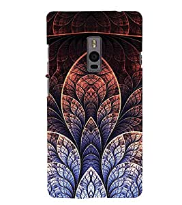 Fuson Premium Back Case Cover Floral Pattern With yellow Background Degined For One Plus Two::One Plus 2::One+2
