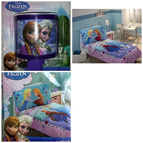 Disney Frozen 4 Piece Toddler Bed Set with Night Light - 1