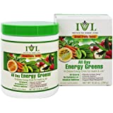 Institute for Vibrant Living All Day Energy Greens® Fruit Flavor Hi-Octane Energy Drink For Health & Life Great Fruity Taste - 10.5 oz