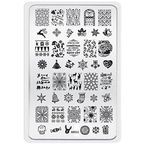nagellackentferner oyedens sch ne weihnachten muster diy nagel kunst bild stempelplatten. Black Bedroom Furniture Sets. Home Design Ideas