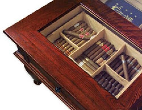 Quality Importers Trading Coffee Table Humidor Home Garden Smoking Accessories Accessories
