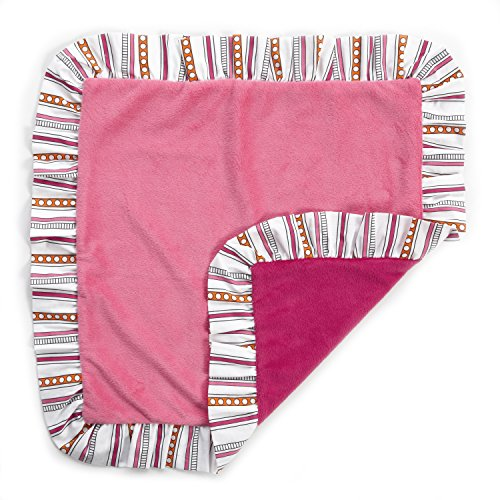 One Grace Place Sophia Lolita Binky Blanket, Pink and Berry - 1