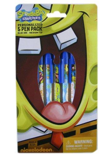 Spongebob Squarepants Pen - Spongebob 8 pcs Ballpoint Pen Set