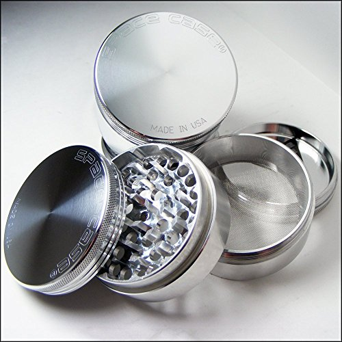 SPACE CASE® Grinder Sifter Mag. 4 Pc. Large + Cali Crusher® Pollen Press (SCM-4(L)+CCP) (Space Case 4 Piece Large compare prices)