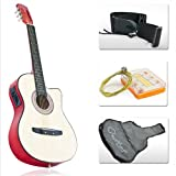 Best Choice Products® Natural Electric Acoustic Guitar Cutaway Style with Accessories