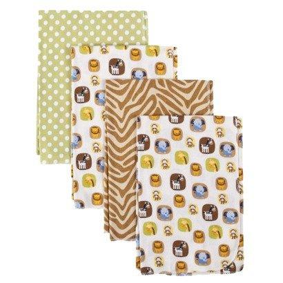 Tiddliwinks Safari Friends 4pk Receiving Blankets - 1
