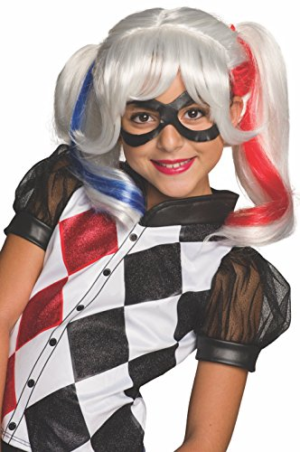 Girls DC Super Hero Harley Quinn Wig