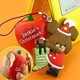 くまのがっこう★クリスマス限定やわらかマスコット携帯ストラップ(りんご)NK0007-6
