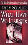What Have We Learned?: The Best Thinking on Congregational Life (0687045401) by Lyle E Schaller