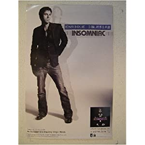 Enrique Iglesias Poster on Amazon Com  Enrique Iglesias Poster Insomniac New  Everything Else