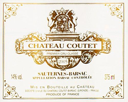 2005 Chateau Coutet Sauternes Bordeaux 375 Ml