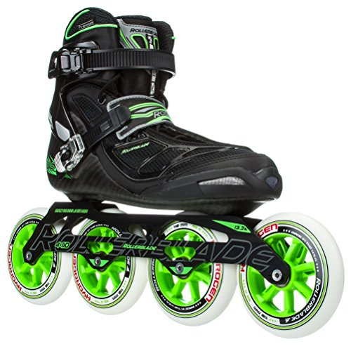Rollerblade-2015-TEMPEST-110C-Premium-FitnessRace-Skate-with-4x110mm-US-Made-Hydrogen-Wheels-HTO-PRO-Super-Precise-Bearings-BlackGreen-US-Men-10