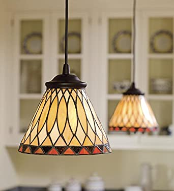 screw in stained glass pendant light. Black Bedroom Furniture Sets. Home Design Ideas