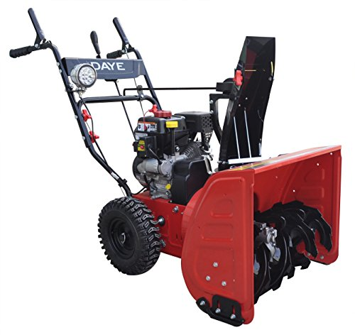 DAYE DS24E 24-inch 208cc Electric Start 2-Stage Snow Thrower Powered By LCT Gas Engine, 5-Star Rated Reviews (Snow Blower Gas Used compare prices)