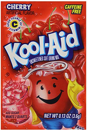 Kool-Aid Cherry Unsweetened Soft Drink Mix, 0.13 Ounce Packets (Pack Of 192)