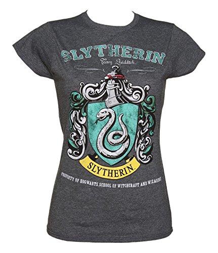 Womens Dark Heather Harry Potter Slytherin Team Quidditch T Shirt