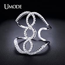 buy Salinla Jewelry White Gold Plated Adjustable Female Mid Finger Ring Ring Cz Stone Ladies Ring Ur0048B