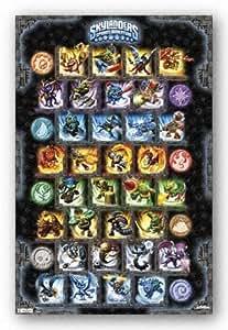 (22x34) Skylanders Spyro's Adventure Grid Video Game Poster Print
