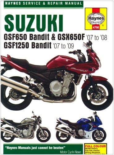 Suzuki GSF650/1250 Bandit and GSX650Fservice and Repair Manu (Haynes Service and Repair Manuals)