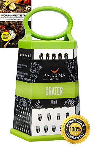 Baccuma - Grater Box of 6 slicer sides for Cheese