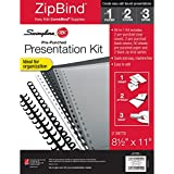 Swingline GBC ZipBind Pre-Punched Presentation Kit, Spines, Covers & Paper Included (26007)