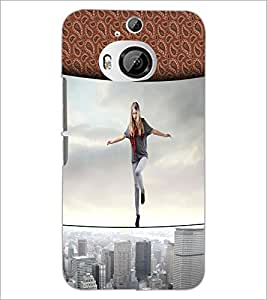 Printdhaba Balancing Girl D-2954 Back Case Cover For Htc One M9 Plus