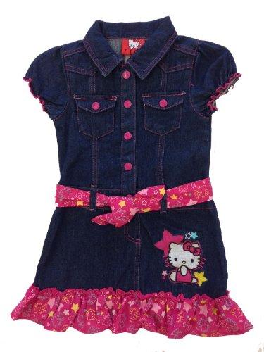 Hello Kitty Pink Denim Dress Size 2T front-890156
