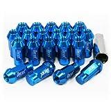 ホイールナット 20個セット P1.25 M12 アルミ製 ロング 袋型 ブルー 青