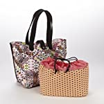 Everything Tote with Removable Insulated Drawstring Bag- Pink Multi Tribal