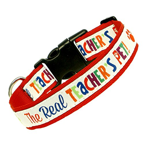 Teacher Peach The Real Teachers Pet Woven Collar Medium