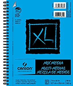 Canson Multi Media Paper Pad, XL Series 60 Pages, 7inch x 10inch