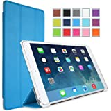 MoKo Ultra Slim Smart shell Cover Case for Mini 3 (2014 Edition with Touch ID), Mini 2 (2013 Model with Retina Display) and Mini (2012 1st Gen), BLUE (Will not fit iPad Mini 4)