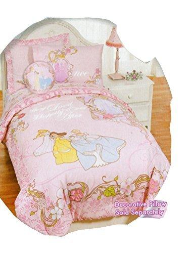 Awardpedia disney princess twin size comforter and sham set - Twin size princess bed set ...