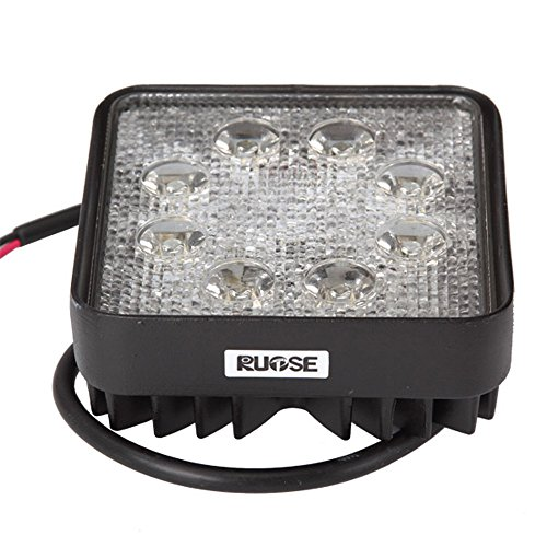Rupse® Waterproof Square Led Offroad Driving Flood Light 1800Lm 24W 6000K