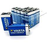 10 er Box Varta 9V High Energy Block Batterie 4022 MN1604 6LR61 Alkaline 9 V in NEMT GmbH BOX