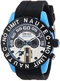 Nautec No Limit Herren-Armbanduhr XL Zero-Yon 2 Chronograph Quarz Kautschuk ZY2-7 QZ/RBPCBKBK-BL