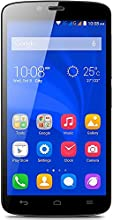 Honor Holly Smartphone (5 pollici, Touchscreen, Quad-Core, 1GB RAM, 16GB ROM, fotocamera principale da 8MP, fotocamera frontale da 2MP, Android 4.4, Emotion Laucher) Nero