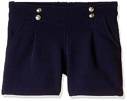 Little Kangaroos Girls' Shorts (Pack of 2) (11564_Navy_4 year)