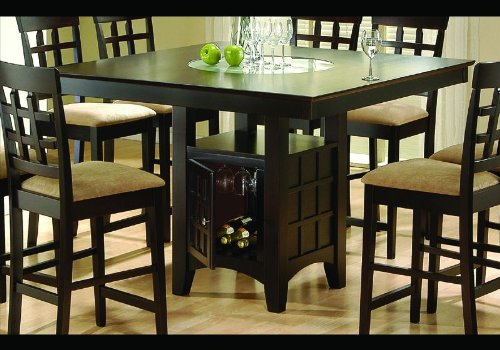 Cappuccino Finish Wine Storage Counter Dining Table front-607036