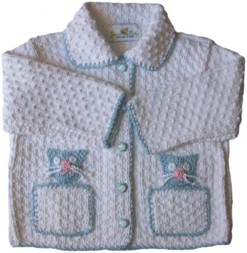 JuneBee Baby, Inc. My Playful Kittens Cotton & Bamboo Knit Baby Cardigan