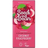 Organic Seed and Bean Coconut and Raspberry Chocolate 85 g (Pack of 4)
