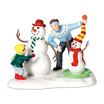 #!Cheap Department 56 Snow Village Like Father, Like Son