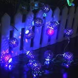 LED-String-Light-IndoorOutdoorRyham-Battery-Operated-49Ft-12LED-Gold-Fairy-Lights-Ball-Curtain-Lighting-Ideal-WeddingChristmas-TreeHalloweenPartyBedroomPurple