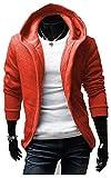 (シュバリアン) Chevalian 軽量 フード 付き カーディガン メンズ パーカー (19. オレンジ XL)