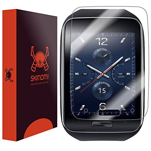 Skinomi® Techskin [6-Pack] - Samsung Gear S Screen Protector Premium Hd Clear Film With Free Lifetime Replacement Warranty / Ultra High Definition Invisible And Anti-Bubble Crystal Shield - Retail Packaging