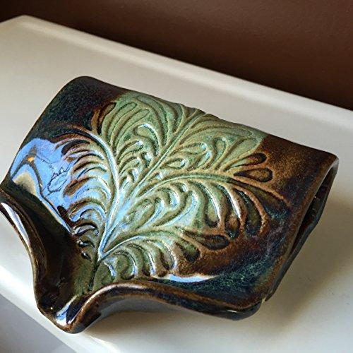 Ceramic Self Draining Soap Dish in Amazon Green FREE SHIPPING (Self Draining Soap Dish compare prices)