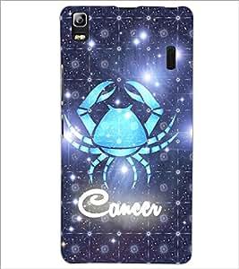 PrintDhaba Zodiac Cancer D-3243 Back Case Cover for LENOVO K3 NOTE (Multi-Coloured)