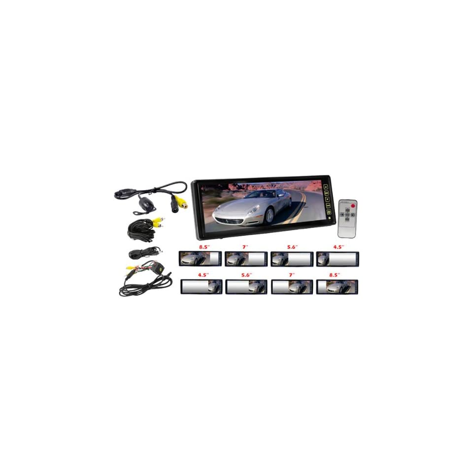 Rear View Mirror Monitor with Back Up Waterproof/Night Vision Camera