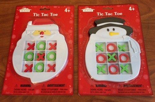 TIC TAC TOE Game (Santa & Snowman) 2 pc pack